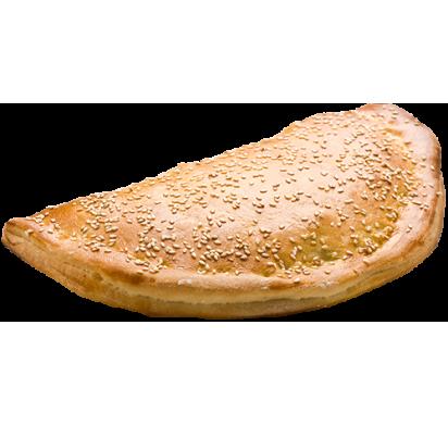 Кальцоне с грибами, шпинатом и сыром